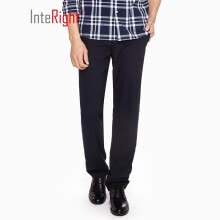362b2d15ed4 INTERIGHT anti-wrinkle quick-drying men s business casual trousers gray  black 34 yards