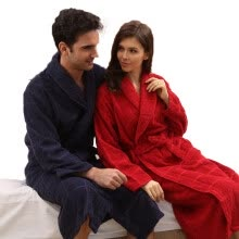 8fa6d8ef9b Cotton robe robe towel men and women thicker autumn and winter cotton  lovers bathrobe large size long home service spring and autumn