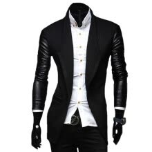 leather-faux-leather-CT&HF Men Faux Jacket Casual Men PU Coat Winter Outerwear For Men on JD