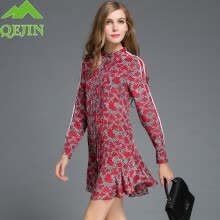 -Women's love print sexy tops office women blouses long Sleeve Blouse nature silk Tops Shirt dresses Plus size XXL Red vestidos on JD