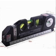 8750201-Huayuan New Laser Level Horizon Vertical Measure Tape 8FT Aligner Multipurpose Bubbles Ruler on JD