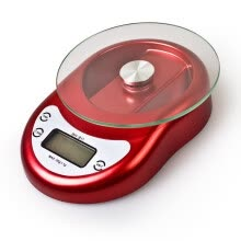 8750201-Mocreo Professional Digital Kitchen Food Scale electronic Balance Weight 11lbs/5kg with LCD Display and Batteries Red on JD