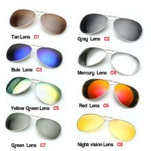 men-sunglasses-Unisex Square Polarized Clips for Eyeglasses Cool Sunglasses Clip-on Flip-up on JD