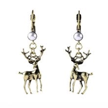 -Aiyaya Antelope Studded High Quality Simulated Pearl Animals Shape Vintage Drop Earrings on JD