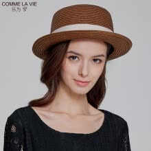 -Le for comme lavie ladies grass hat spring summer women's visor paper grass hat outdoor leisure cool hat 18FB102 light coffee code on JD