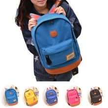 875062575-Women Girl Cat Ear Backpack Schoolbag Campus canvas Bag Outdoor hiking Rucksack on JD