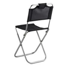 -Portable Folding Aluminum Oxford Cloth outdoor Fishing Camping backrest chair Black on JD