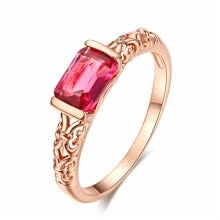 875062457-High Quality CZ Diamond Rings Rose Gold Color Fashion Brand Retro Crystal Jewelry For Women R367 on JD