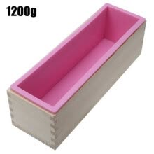 87502-1200g Silicone Soap Loaf Mold Wooden Box DIY Making Tools on JD