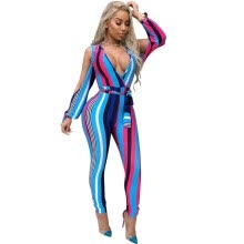 31454d1025aa 2018 New Arrival Jumpsuit Women Summer Fashion Sexy V-neck Hollow Playsuits  Elegant Lace-up Bodycon Bodysuit Mid-waist One Piece
