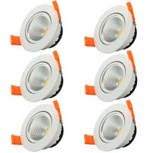 spot-lamps-6pcs/lot 3W Cool White Dimmable LED COB chip downlight dimmer Recessed white led lamp epistar LED Ceiling light Spot Light ceiling on JD