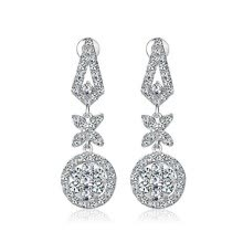 875062454-Aiyaya Pretty Stunning Earrings 10kt White Gold Plated Micro CZ Snowflake Titoni Flower Hollow Drop Earrings on JD