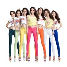 bottoms-Fashion Women Candy Colors Skinny Pencil Jeans Spring Ladies Sexy Fit Pants Plus Size Casual Trousers on JD