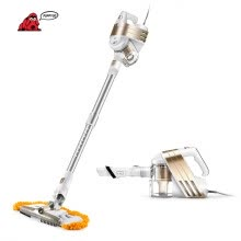 -PUPPYOO Low Noise Home Portable Vacuum Cleaner Handheld Wiping & Abosorbing Dust Collector Household Mop Aspirator WP521 Gold on JD