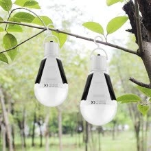 8750210-LED Rechargeable Solar Night light E27 220V Charge Sensor lamp 7W / 12W Waterproof Outdoor Camping Tent Emergency Bulb on JD