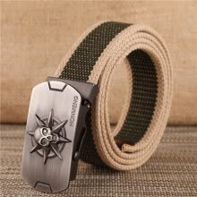 belts-Canvas Belt Men's Canvas Belt Youth Casual Pants Korean Smooth Belt Belt Man on JD