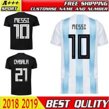 7d19537d1c2 top thai quality 2018 world cup Argentina Soccer Jersey 2018 Argentina Home  away jerseys Messi Aguero Di Maria DYBALA football shi