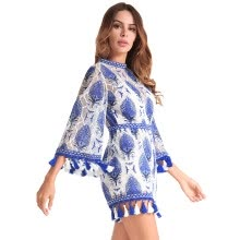 aee9fa333351 Summer 2018 Women Boho Jumpsuit Playsuits Embroidery Crochet Lace Tassel  Beach Overalls Causal Hollow Out Tunic Romper