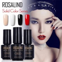 -ROSALIND Gel 1 Black Bottle 7ML Pure Color 58 Colors 01-58 Gel Nail Polish Soak Off Nail Art Semi-Premanent UV LED Gel Lacquer on JD