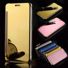 -Iphone 5/5S/SE Luxury Mirror View Mirror PU Cover Flip Smart Clear Window  Phone Case on JD