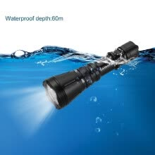 87502-High Brightness LIXADA LED Flashlight 4800LM 8-Mode T6 Diving Underwater Outdoor Waterproof 60m Torch Light Lamp on JD