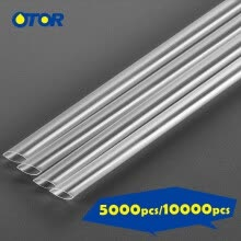 -OTOR 10,000pcs/5000pcs Disposable PP Plastic Straw for Plastic Cup and Paper Cup Hot Cold Drink Coffee Milk Tea on JD