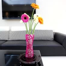 8750202-2PC Foldable Plastic Unbreakable Reusable Flower Home Decor Vase Color Random on JD