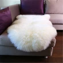 -Natural White Wool Area Rug, U&M Authentic Australian Sheepskin Rug,Fluffy,Soft,Cozy 2.6 x 3.9ft on JD