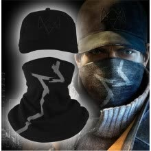 hats-caps-2016 new cs Watch Dogs Scarf and Cap Hat SET Aiden Pearce Cosplay Costume Mask Hood on JD