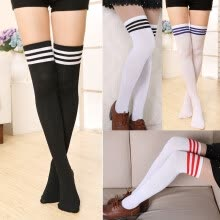 bottoms-Girls Over The Knee Thigh High Cotton Socks Stockings Leggings Women Ladies on JD