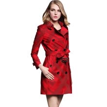 875061834-BURDULLY Female Plaid Trench Coats For Women New Fashion Belted Trench Coat Para As Mulheres 2017 Autumn Winter Abrigos De Mujer on JD