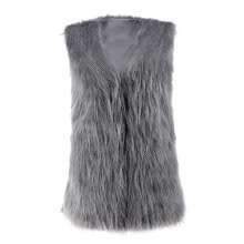 -Low Price Faux Fur Vest Gilet Vset Jacket Mid-long Outwear Waistcoat Hot on JD