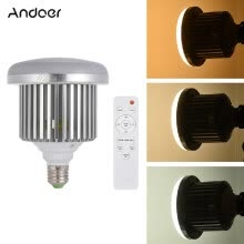 -Andoer E27 50W LED Bulb Lamp Adjustable Brightness  Color Temperature 3200K~5600K with Remote Control Studio Photo Video Light AC on JD