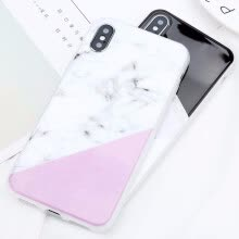 -Glossy Marble Case For iPhone 5 6 7 8 PLUS X Stone Image Pattern Cases Silicon Back Cover on JD