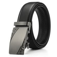 belts-XHtang Mens Belt Genuine Leather Automatic Buckle belt For Waistband Ratchet Strap Black Leather Belt Designer Belt For Jeans Gift on JD