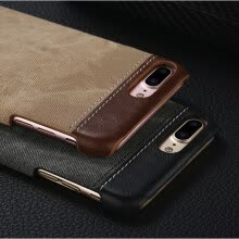 -Retro Style Cloth Skin Leather + PC Phone Cases for iphone 5 5s SE 6 6s 7 8 X Plus Back Cover Case on JD