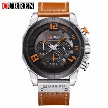 -CURREN 8287 Top Brand Chronograph Quartz watches Men 24 Hour Date Men Sport Leather Wrist Watch on JD
