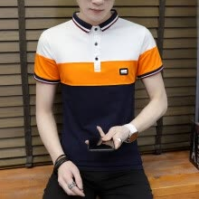 875061884-DaMaiZhang Brand clothing New Men Polo Shirt Men's Business Casual Stripe Shirts Short Sleeve Breathable Tshirt To on JD