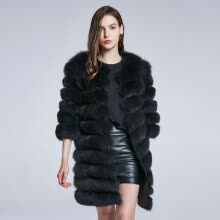 fur-Fox Fur Coat Natural Fur Coat Real Fur Coat Winter Woman Jacket Length Can Change Warm Stripe Stitching 2018 New Discount Sale on JD