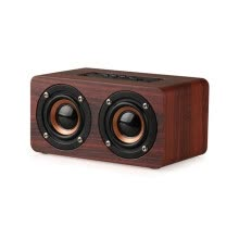 875072520-W5 Wooden Wireless Bluetooth Speaker Portable Audio WiFi Home Theater Vibration Bass Stereo Sound Subwoofer Speaker on JD