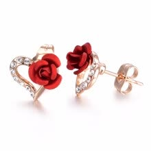 615cceb0c Yoursfs Filigree Earrings For Women Rose Flower Cage Shaped Leverback  Earrings Bride Fashion Jewellery
