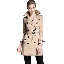 -BURDULLY Spring 2018 British Style Slim Long Trench Coat For Women Winter Casual Autumn Double Breasted Coat Business Outerwear on JD