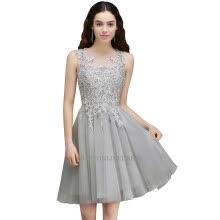 A Line Homecoming Dresses Lace Applique Knee Length Formal Short Party  Cocktail Prom Dresses 287da1b25622