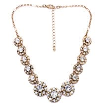 875062455-Aiyaya Flower Snowflake High Quality Round Cut Cross Statement Necklace Chain on JD