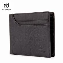 c0dbcac47cfc BULLCAPTAIN 100% Genuine Leather Wallet Fashion Short Bifold Men Wallet  Casual Soild Male Wallets With Coin Pocket Purse