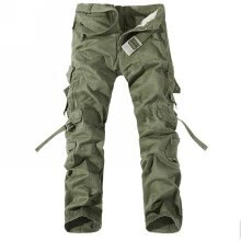 socks-Mens Cotton Casual Army Overalls Loose Large Size Pants Hot Trousers  Grass Green 30 in. on JD