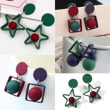 drop-earrings-Fashion Women Colorful Vintage Geometric Dangle Ear Stud Earrings Jewelry New on JD