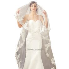 -Hot Sale 2018 Wedding Veil Lace Cathedral wedding accessories White Ivory 3 M Cheap Long Voile Marriage Bridal Veil Without Comb on JD