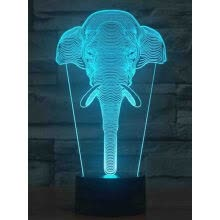 -AINA 16 color elephant head night light on JD