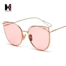 eb6af4226e SHAUNA Glittery Eyebrow Oversize Women Square Sunglasses Fashion Metal  Frame Tea Champagne Sun Glasses UV400